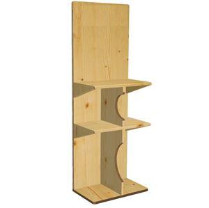 תמונה של סטנד 3 מדפים דמוי עץ