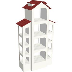 תמונה של סטנד מעוצב לאביזרי בית במבנה בית