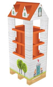 תמונה של סטנד מדפים בצורת בית